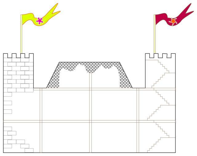Drawing of Castle Ah by Craig Maas