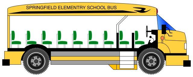 Drawing of School Bus by Craig Maas